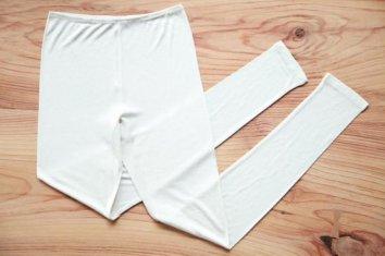 【限定品】金伴繊維コラボ絹のレギンス 10分丈ロング