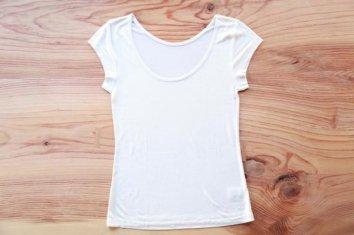 絹の3分丈Tシャツ(女性用)