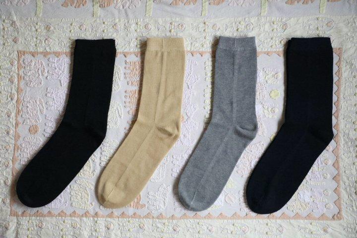 綿の先丸ソックス(LLサイズ)
