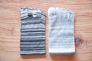 絹綿混紡5本指ソックス(LLサイズ)
