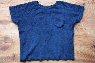 <数量限定>藍染 ふわふわHUGパイルTシャツ