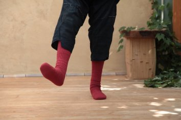 【別注カラー】COSMIC WONDER Beautiful Tasmanian wool socks(long)