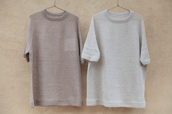COSMIC WONDER Silk linen wholegarment knit Tshirt