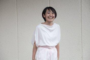 COSMIC WONDER Beautiful organic cotton circle T-shirt(White)