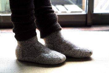 PUENTE Rueca(ルエッカ) 手紡ぎ靴下(23.5〜24.5cm)