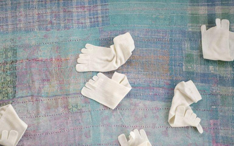 ウールの5本指ソックス Lサイズ 3組セット