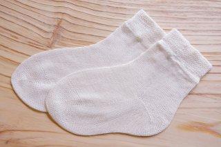 絹の先丸ソックス(18cm/子ども用)