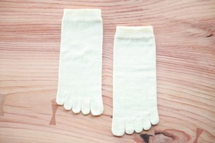 ウール綿混紡5本指ソックス(Mサイズ)