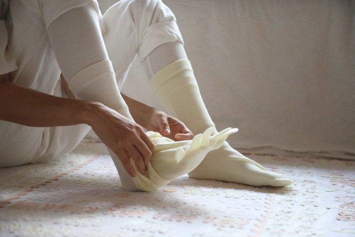 ウール綿混紡5本指ソックス(Lサイズ)