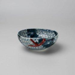 古赤絵 桜川文 桃型小鉢