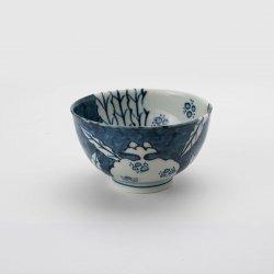 陶祥窯 古染 柘榴文 丸茶碗