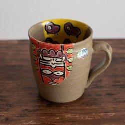 呉須釉彩 インカ文 マグカップ