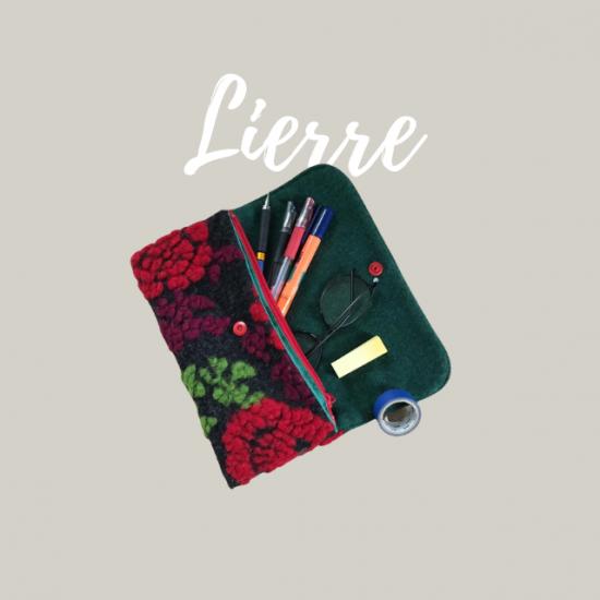 フラットポーチの型紙【lierre】リエル