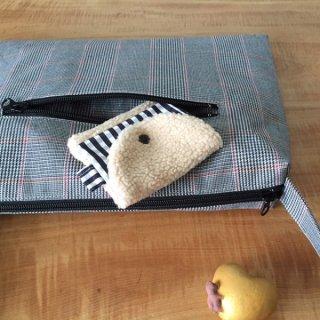 ファスナーポケットのバッグの型紙【toffee】タフィー