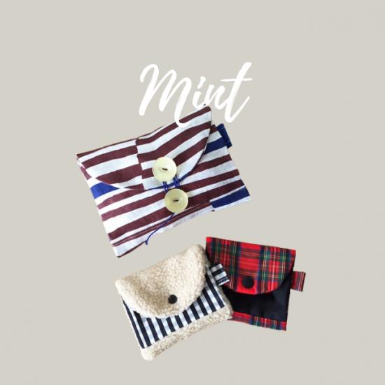 ポーチとミニさいふの型紙【mint】ミント