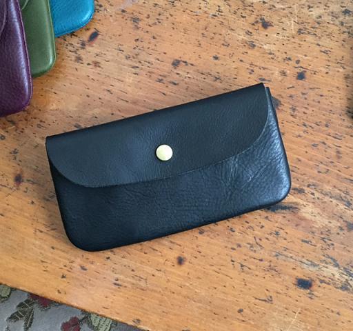 イタリア革の長財布 ブラック