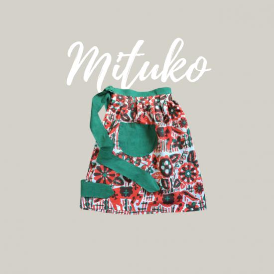 前掛けエプロンの型紙【mituko】ミツコ
