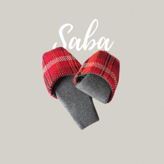 トラベルスリッパの型紙【saba】サバ
