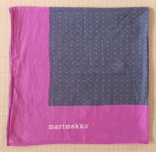 marimekko  ヴィンテージ スカーフ MUIJAパープル