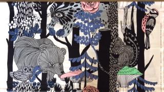『100TH ANNIVERSARY PRINT FOR SUOMI-FINLAND 2017』 marimekko生地 Veljekset 140×81cmの柄販売