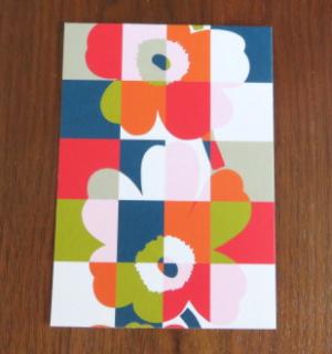 marimekko ポストカード「RUUTU UNIKKO:マルチ」