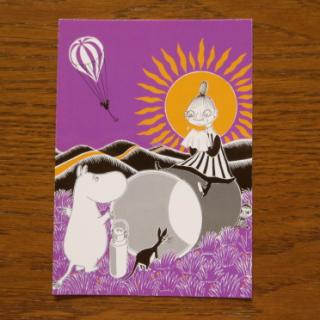 【50円OFF】ムーミン ポストカード「ムーミンとミムラ姉さん」