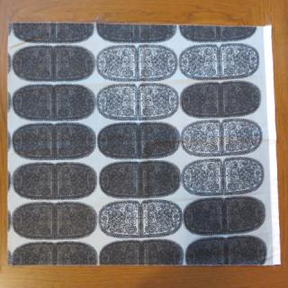 【難あり】marimekko生地  TANTSUグレイ地×ブラック 70×60cmのカットはぎれ