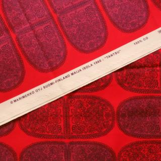 【30%OFF】marimekko生地 TANTSUレッド 70×50cmのカット販売