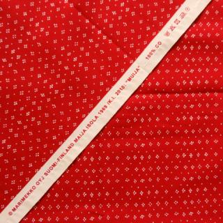 【30%OFF】marimekko生地 MUIJAレッド 70×50cmのカット販売