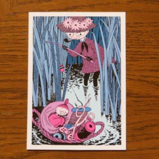 ムーミン ポストカード「裁縫かごの中のミイ」