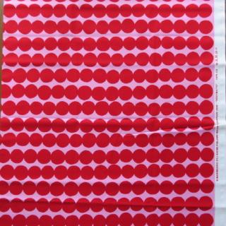 【20%OFF】marimekko生地 RASYMATTOレッド×ピンク 70×50cmのカット販売