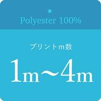 ポリエステル生地プリント1m〜4m