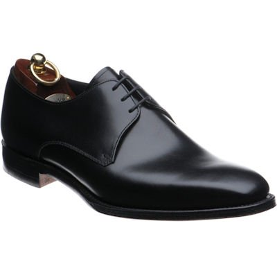 Loake Cornwall Derby shoe- Black Calf