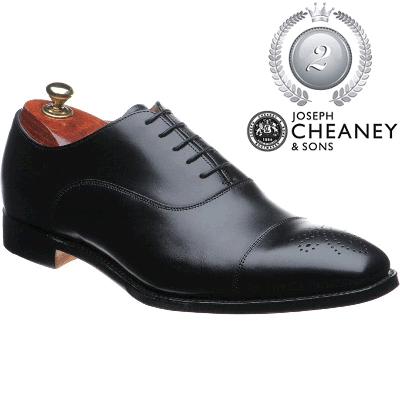 Cheaney Cambridge - Black Calf