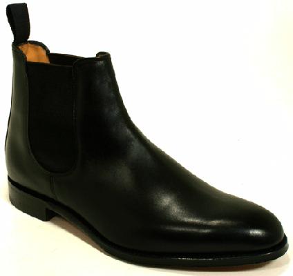 Cheaney HOLYROOD Threadneedle Black Calf ブラック サイドゴア