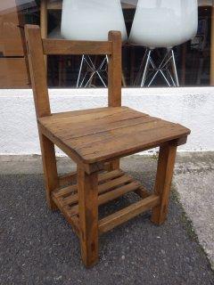 ジャパンビンテージ レトロ 木味 学校椅子 子供椅子 B ◇