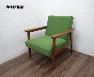 カリモク60 Kチェア 1シーター タープグリーン 廃番カラー ●