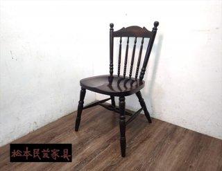 松本民芸家具 16型スピンドルチェア D ミズメザクラ 無垢●