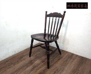 松本民芸家具 16型スピンドルチェア B ミズメザクラ 無垢 ●