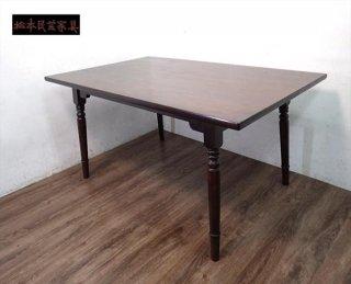 松本民芸家具 A型食卓 ダイニングテーブル ミズメザクラ 無垢●