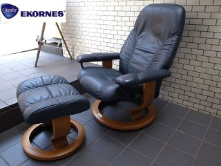 EKORNES エコーネス ディプロマット ストレスレスチェア オットマン付 サイズS ■