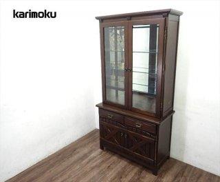 karimoku カリモク RUSTIC調 カントリー 食器棚 キュリオ ●