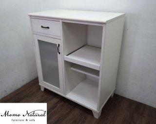 MOMO Natural モモナチュラル LAND ランド スライド棚 キッチンカウンター ♪