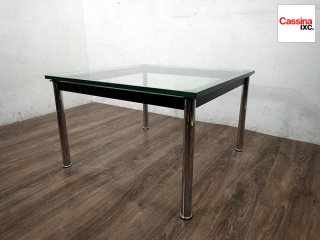 カッシーナイクスシー Cassina ixc コルビジェ LC10 ガラスローテーブル B ◎