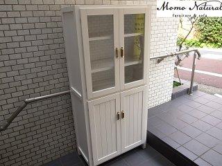 モモナチュラル momonatural CIELE シエル カップボード キャビネット 飾り棚 食器棚■