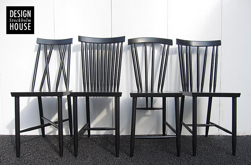 MoMA取扱い ★ DESIGN HOUSE Stockholm / デザインハウスストックホルム ★ 『 Family Chairs / ファミリー チェア (ブラック) 』 各脚1…