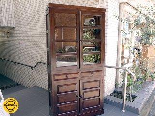 定価48万 松本民芸家具 K-� 書棚 食器棚 飾り棚 キャビネット ミズメザクラ ■