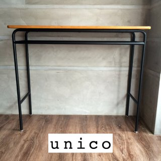 unico ウニコ/SKOLA スクーラ コンパクト カウンター デスク シェルフ付 ブラック ♪
