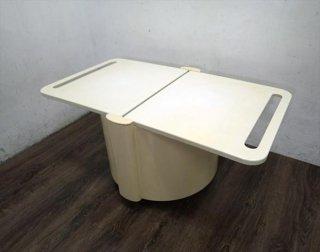 スペースエイジ KASTILIA プラスチック バーワゴン/テーブル 70's イタリア ●