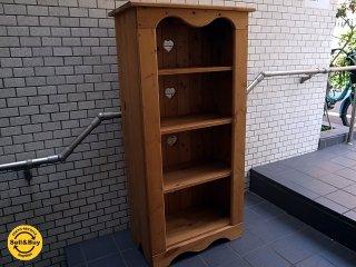 ナチュラル カントリースタイル パイン 無垢材 ブックシェルフ 本棚